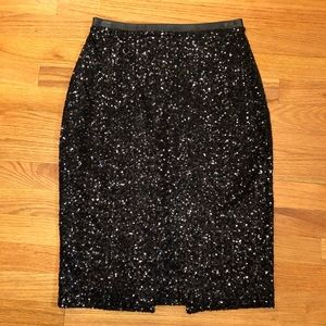 Express Sequined Pencil Skirt